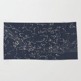 Carte du Ciel I Beach Towel