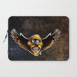 Happy Cycloptic Dog Eagle with a Stache (scratch back) Laptop Sleeve
