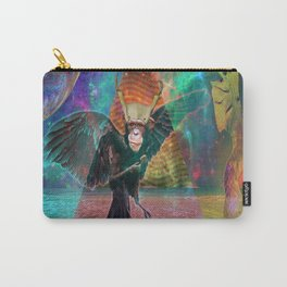 Monkey Crow Carry-All Pouch