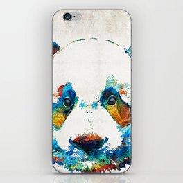 Colorful Panda Bear Art By Sharon Cummings iPhone Skin