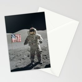Astronaut on the Moon  - Vintage Space Photo Stationery Cards
