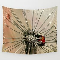 ladybug Wall Tapestries featuring Ladybug  by Jonas Ericson