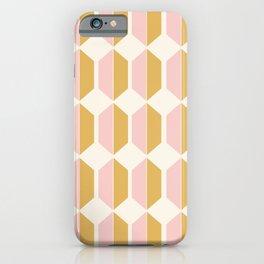 Hexagonal Pattern - Sunrise iPhone Case