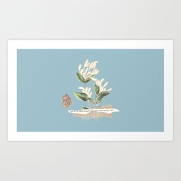 white valentine's day Art Print