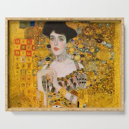 Adelle (Detail) Gustav Klimt Serving Tray