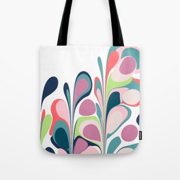 Colorful Abstract Floral Design Tote Bag