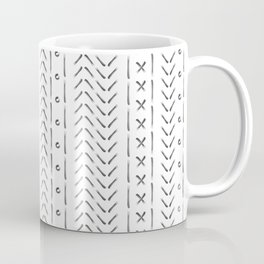 White and gray boho pattern Coffee Mug