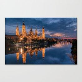 Zaragoza, Aragon, Spain. Canvas Print