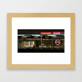 George's 50s Diner Framed Art Print