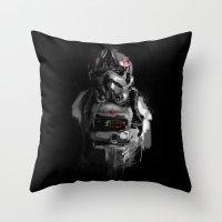 pilot Throw Pillows featuring Pilot 02 by Rafal Rola