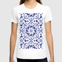 chamomile pattern T-shirt
