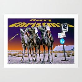 Christmas - Three Wise Men Parking Bay. Art Print