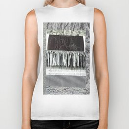 Collage - Black on White Biker Tank