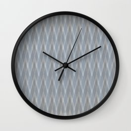 Argyle Grey Scale Shimmer Wall Clock