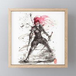 Redhead Ninja! Framed Mini Art Print