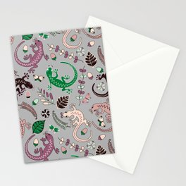 Pink lizards Stationery Cards