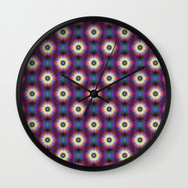 Dasies in Blue and Purple Wall Clock