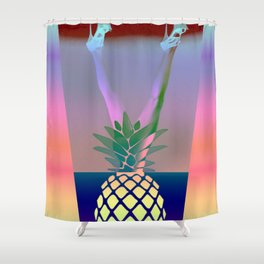 Ananas Woman Shower Curtain
