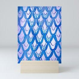Purple and Blue Watercolor Scales! Mini Art Print