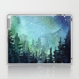 Galaxy Watercolor Space Night Sky Nebula Painting Aurora Laptop & iPad Skin