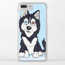 Pet Cartoon Ilustrattion / Pet Portraits Clear iPhone Case