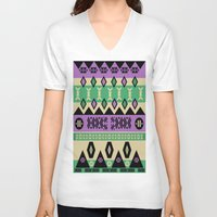 aztec V-neck T-shirts featuring AZTEC by oldi