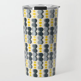 Uende Grayellow - Geometric and bold retro shapes Travel Mug