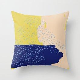 Mustard Sea Throw Pillow