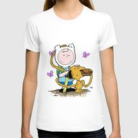 snoopy T-shirts featuring Peanuts Time with Charlie and Snoopy by Ian Westart