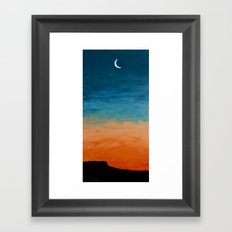 Pre-Dawn Moonrise, painting Framed Art Print
