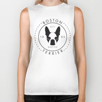boston terrier Biker Tanks featuring Boston Terrier by Lulo The Boston Terrier