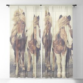 Horses Sheer Curtain