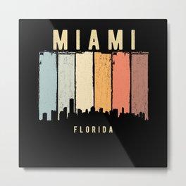 Miami Skyline Florida USA Metal Print