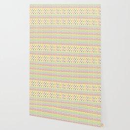 Polka dots and stripes Wallpaper