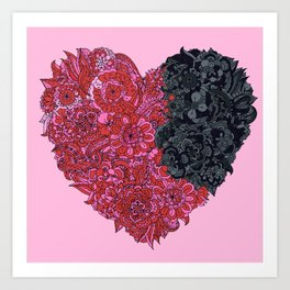 Loves Win (heart) Art Print