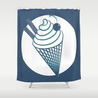 ice cream Shower Curtains featuring ice cream! by gasponce