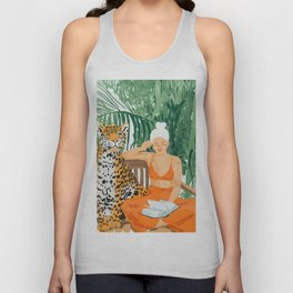 Jungle Vacay #painting #illustration Unisex Tank Top