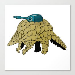 Armoured Pangolin Canvas Print