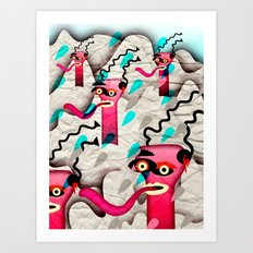 Ugly Mountain Detonation I Art Print