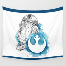 R2 Droid -blue Wall Tapestry