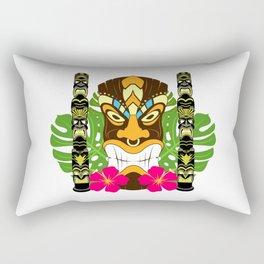 Tiki Statue & Totems Rectangular Pillow