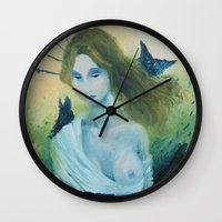 madonna Wall Clocks featuring Butterfly Madonna by AriesNamarie