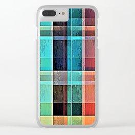 Plaid 17 Clear iPhone Case