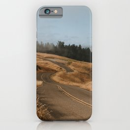 Ridgecrest Roads on Mount Tamalpais iPhone Case