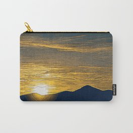 Desert Mountain Sunset Through Layers of Clouds Carry-All Pouch