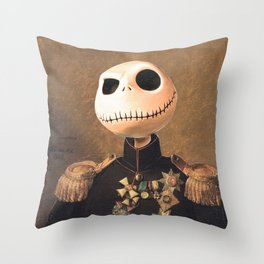Jack Skellington General Portrait Painting   Fan Art Throw Pillow