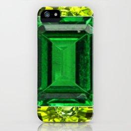 EMERALDS &  LIME GREEN PERIDOT GEMS BIRTHSTONES iPhone Case