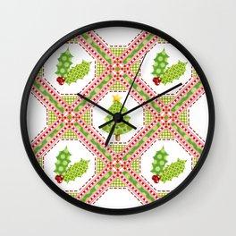 Polka Dot Christmas Wall Clock