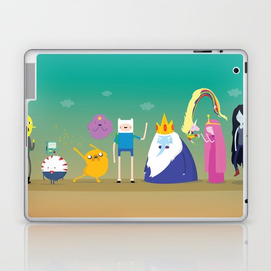 Adventure time characters Laptop & iPad Skin
