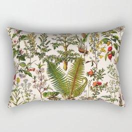 Adolphe Millot - Plantes Medicinales B - French vintage poster Rectangular Pillow
